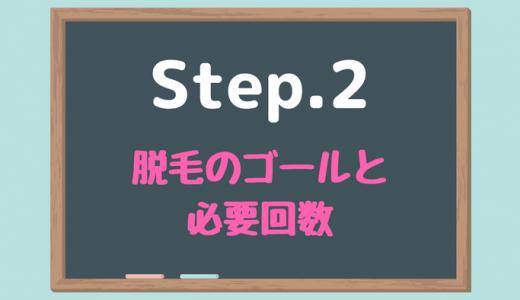 【Step.2】目指す仕上がりレベルを決め、必要な脱毛回数を把握する